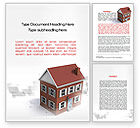 Construction: Model Of Townhouse Word Template #09866