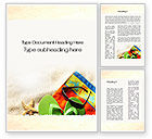 Careers/Industry: Slippers On The Sand Word Template #09867