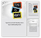 Financial/Accounting: Time Is Money Training Word Template #09872