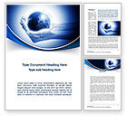 Global: Globe In Hands Word Template #09876