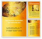 Nature & Environment: Golden Orange Vegetative Word Template #09879
