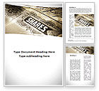 Financial/Accounting: Shares Word Template #09884