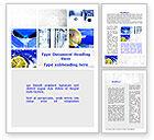 Food & Beverage: Blue Cocktails Collage Word Template #09886