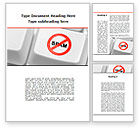 Technology, Science & Computers: Anti Spam Defense Word Template #09891