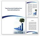 Business Concepts: Plantilla de Word - histograma creciente #09893