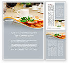 Food & Beverage: Pasta With Shrimps Word Template #09898