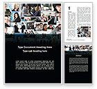 People: Business Theme Collage Word Template #09901