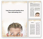 Business Concepts: Man Looks Up Word Template #09902
