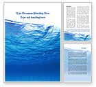 Nature & Environment: Picture Taken Under Water Word Template #09905