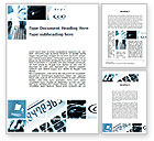 Financial/Accounting: Market Calculation Collage Word Template #09911