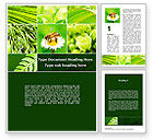 Agriculture and Animals: Bee On A Flower Collage Word Template #09915