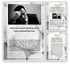 Business Concepts: Headache From The Problems Word Template #09919