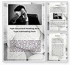 Business Concepts: Plantilla de Word - dolor de cabeza de los problemas #09919
