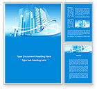 Construction: Blue City Word Template #09929
