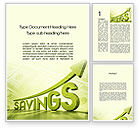 Financial/Accounting: Rise Of Savings Word Template #09930