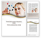 Technology, Science & Computers: Girl With Molecular Model Word Template #09931