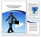 Business: Riskiges geschäft auf einem dünnen seil Word Vorlage #09932