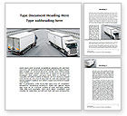 Cars/Transportation: Cargo Traffic Word Template #09946