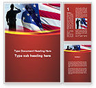 America: Saluting Flag Of The United States Word Template #09948