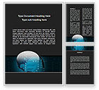 Technology, Science & Computers: Electronic Earth Word Template #09949
