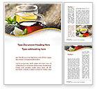 Food & Beverage: Two Cups Of Tea Word Template #09950