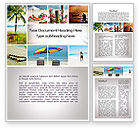 Holiday/Special Occasion: Beach Fun Word Template #09954