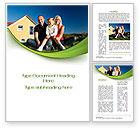 Consulting: Townhouse der glücklichen familie Word Vorlage #09957