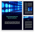 Abstract/Textures: White Circles On The Blue Corrugated Word Template #09959