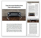 Business Concepts: Sofa Word Template #09963