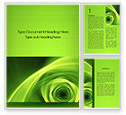 Abstract/Textures: Green Whirlpool Word Template #09964