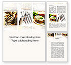 Food & Beverage: Durum Wheat Products Word Template #09966