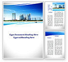 Construction: Modern Resort On A Seashore Word Template #09968