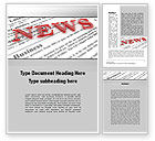 Business Concepts: Business News Word Template #09970
