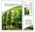 Nature & Environment: Trees in the Forest Word Template #09985
