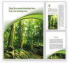 Nature & Environment: Bomen In Het Bos Word Template #09985