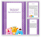 Education & Training: Happy Birthday For Your Children Word Template #09988