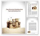 Construction: Sand Castle Word Template #09998