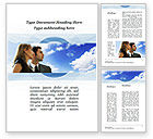 People: Young Couple Looking To The Future Word Template #10004