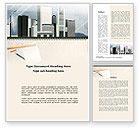 Construction: Architectural Plan Of Urban District Word Template #10006