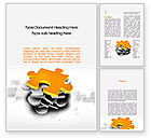Business Concepts: Golden Puzzle Word Template #10008