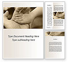 Religious/Spiritual: Baby's Hand Word Template #10036