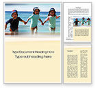 People: Happy Children on the Sea Word Template #10040
