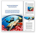 Sports: Diving Photo Shooting Word Template #10048