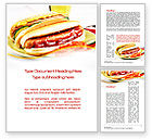 Food & Beverage: Yummy Hot-Dog Word Template #10049