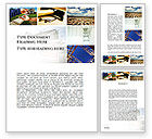 Careers/Industry: Building For Sale Word Template #10068