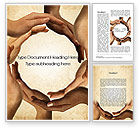 Religious/Spiritual: Circle of Hands Word Template #10080