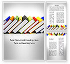 Education & Training: Paper Books Word Template #10084