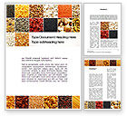 Agriculture and Animals: Convenience Foods Word Template #10087