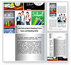 Education & Training: School Friends Back to School Word Template #10089