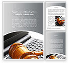 Legal: Cyber Law Word Template #10100